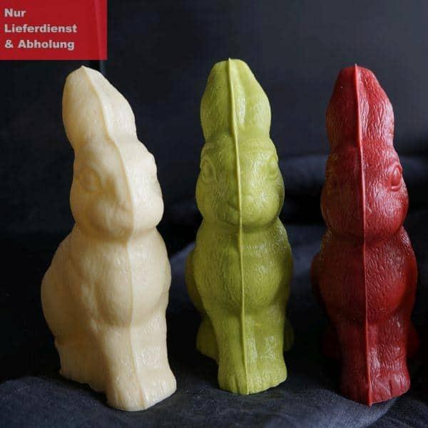 Ostern mit Hasen und Banderole